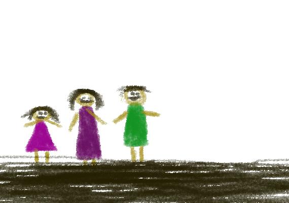 Ha a gyerek szinte vés a rajzeszközzel a papíron, az úgyszintén utalhat lappangó agresszióra, ahogyan a nagy felületek sötétre satírozása is jelezhet belső feszültséget.