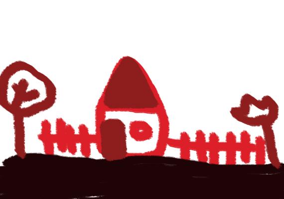 Ha a gyerek túlnyomórészt sötét színeket használ, és sok vöröset, lehetséges, hogy dühös, bosszús valami vagy valaki miatt. Lehet benne egy kis visszafojtott agresszió.