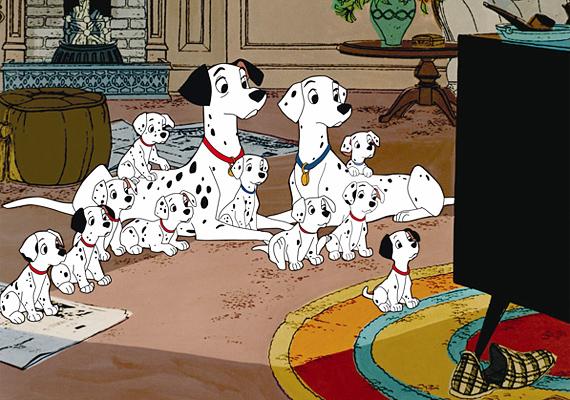 101 kiskutyaFilmváltozata is aranyos, ám a klasszikus rajzfilmverzió mégis kedvesebb. Pongó és Perdita szerelméből 101 kiskutya születik, akik gazdáikkal együtt legyőzik a gonosz Szörnyella de Frászt.