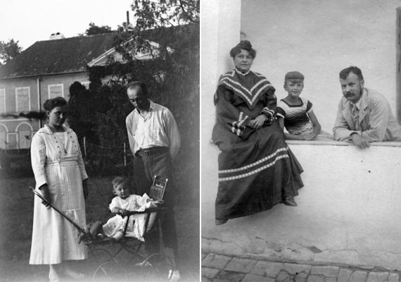 A balra látható kép 1923-ban készült, abban az esztendőben, amikor Csepelen üzembe helyezték az első magyar rádiót. A másik kép 1914-es, vagyis épp az első világháború kitörésének évében csináltatták.