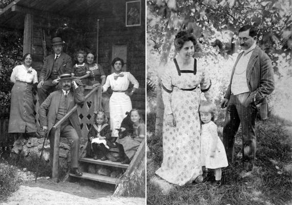 Ismét egy kép az első világháború kezdetének évéből, balra. Itt még együtt a család, ki tudja, meddig maradhatott ez így. A jobbra látható kép 1913-as, ebben az évben alapította Albert Schweizer a kórházát Afrikában.