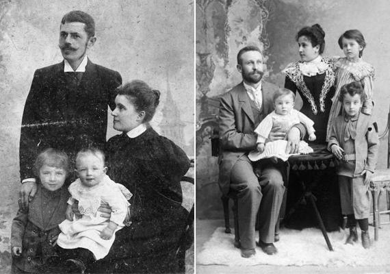 A bal oldalon látható kép 1902-ből, a tapolcai tavasbarlang felfedezésének évéből való, a jobb oldali pedig 1900-ból, ekkor született Szabó Lőrinc.