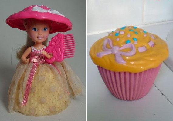 A sütibabát imádták a kislányok: illatosak és szemet gyönyörködtetőek voltak, szoknyáikat felfordítva pedig varázslat történt: cupcake-ké változott a mosolygós játék.