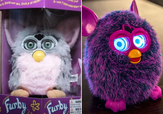 A nagyszemű Furby játék ma már világító szemű furcsasággá lett.