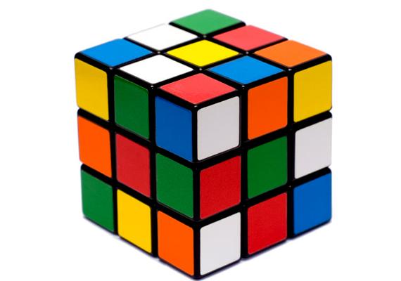 Valamint az embert próbáló Rubik-kocka.