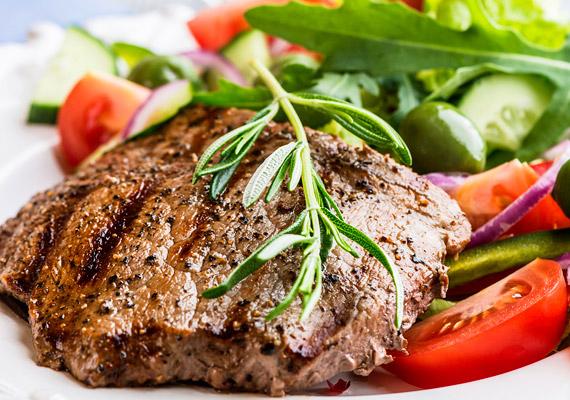 Savképző hatású élelmiszer a hús…