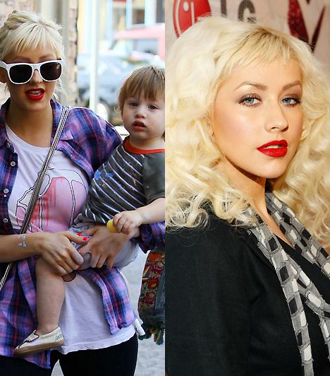 Christina AguileraBár a vörös rúzsról továbbra sem sem mond le, meg kell hagyni, hogy a divatos sztárszépség anyaként is megállja a helyét. Pedig kevesen gondolták volna, hogy gyermeke kedvéért hajlandó a mélyen dekoltált felsőit kényelmes pólókra cserélni.