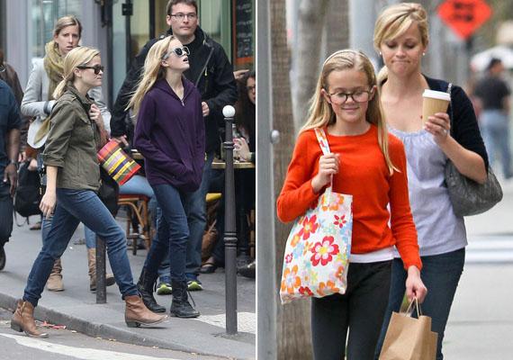 Párizs utcáit járva kapták őket lencsevégre a lesifotósok nemrégiben. A 37 éves Reese és 13 éves lánya, Ava Elizabeth szinte olyanok, mintha ikrek lennének.