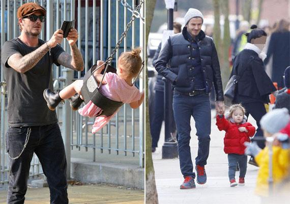 Harper Beckham, Victoria és David Beckham kislánya és apukája közt irigylésre méltó a harmónia. Ugye, milyen helyesek együtt?