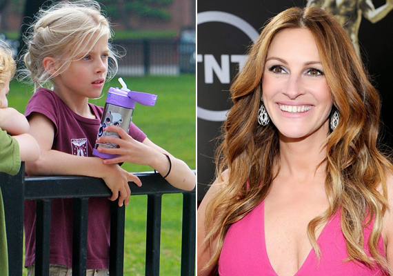 A képen látható Hazel egészen más vonásokkal rendelkezik, mint édesanyja, Julia Roberts, ám apukájára hasonlít.