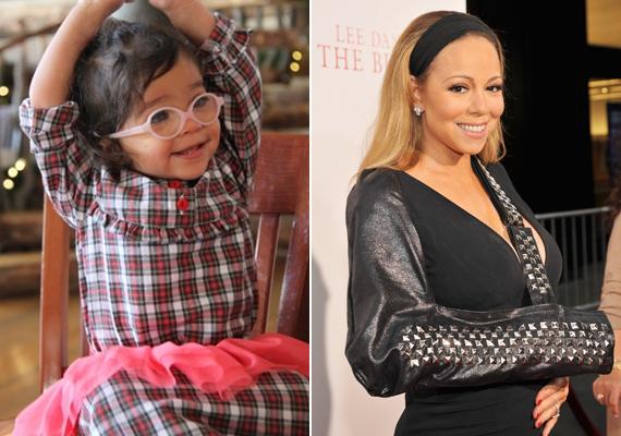 Mariah Carey 2011-ben egy ikerpárnak adott életet. Monroe, az énekesnő kislánya talán csak mosolyában hasonlít anyukájára.