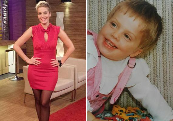 Szemei árulkodók: a csinos műsorvezetőnőt tekintetéről ezer közül is meg lehetne ismerni, még akkor is, ha a képen csupán kisóvodás volt még. 13 évesen szavalt először a Duna TV-ben.