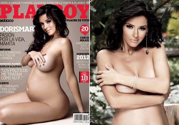 Az argentin modell, Dora Noemí Kerchen - művésznevén Dorismar - volt az első nő, aki 2012-ben terhesen pózolt a nyuszis magazin mexikói kiadásának címlapján.
