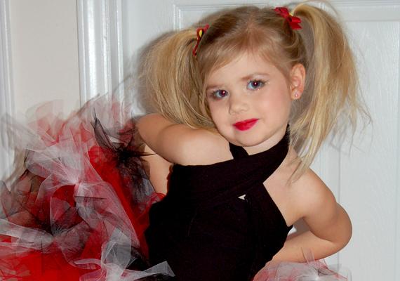 A hároméves Haley a róla készült amatőr fotó szerint még a felkészülés fázisában van.