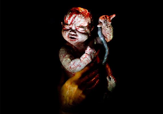 Lize, 9 másodperccel születése után.