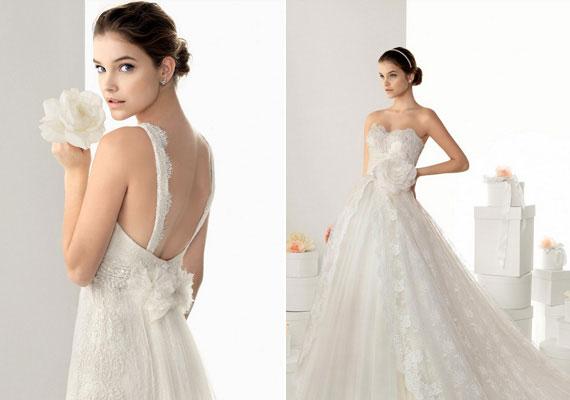 Palvin Barbara a spanyol Rosa Clará 2014-es esküvőiruha-kollekciójában gyönyörű menyasszonyként pózol a kameráknak.