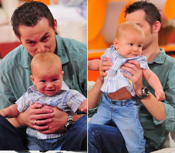Szakál Miki kilenc hónapja gyakorolja az apaszerepet, tündéri kisfiát, Ádámot pedig a tévénézőknek is megmutatta.