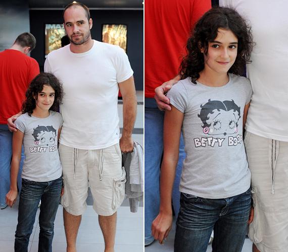 Benedek Tibor kislánya, Ginevra már 12 éves - már most igazi szépség.