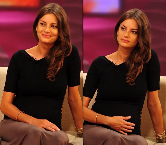 A gyönyörű magyar modell, Ebergényi Réka első gyermeke december 7-én született és kislány lett.