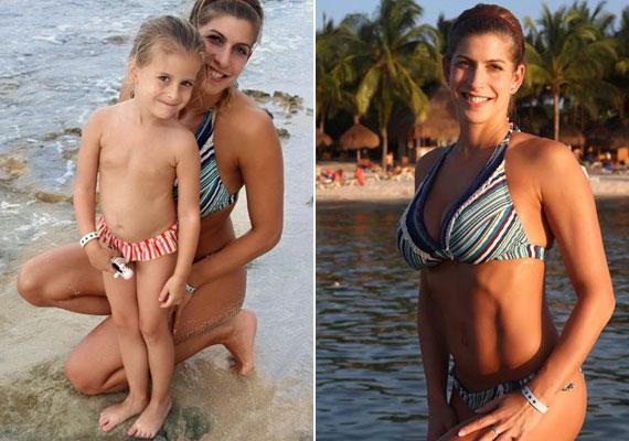 Béres Alexandra ritkán látott kislányáról tett közzé fotókat a Facebook-oldalán abból az alkalomból, hogy a család egy karibi tengerparton töltötte a karácsonyi ünnepeket.