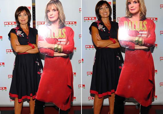 Pápai Erika Jászai Mari-díjas színésznő 50 felett is elbűvölő, csinos ruhájával még Ördög Nórán is túltett. Az RTL Klub őszindító sajtótájékoztatóján kétségkívül ő volt a legelegánsabb sztár a vörös szőnyegen.
