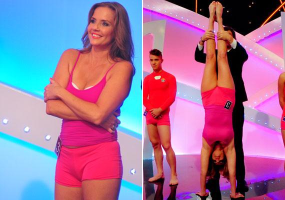 A csütörtök esti show-ban Bálint Antónia is kitett magáért: a párokat versenyeztető műsorban 40 fölött sem szégyellte megmutatni testét: spagettipántos topra és pamut forrónadrágra vetkőzött.