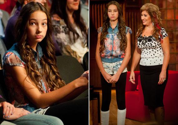 Ugyan Kiszel Tünde lánya már babakora óta részt vesz fotózásokon, a 12 éves Donatella nemrég önszántából is úgy döntött, hogy modellnek áll. Nem túl fiatal hozzá?
