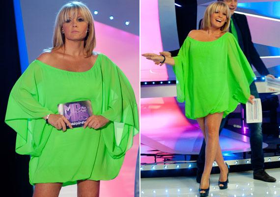 Liptai Claudia egy igencsak feltűnő, szemkápráztatóan zöld kreációt öltött magára a Mr. és Mrs. című műsorban. Nézd meg, milyen ruhákat viselt eddig a műsorban »
