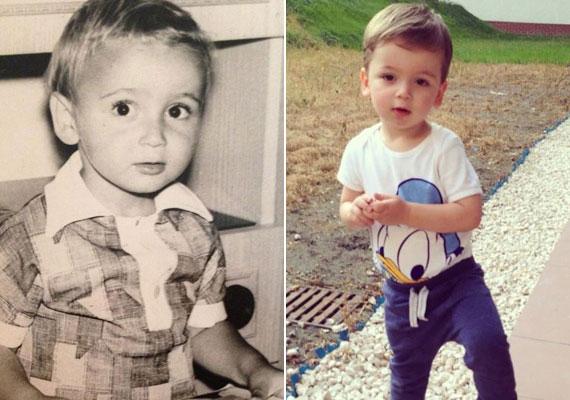 Majka lassan hároméves kisfia, Marián kísértetiesen hasonlít édesapjára. Nézd meg a többi fotót is »