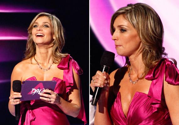 Elkezdődött az Eurovíziós Dalfesztivál hazai válogatóműsora, A Dal is, amelynek legelső elődöntőjében a műsorvezető, Novodomszky Éva egy merészen dekoltált lila ruhát viselt.