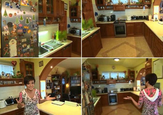 A Hal a tortán eheti adásában Szandi a lakásuk egy részét a főzős vetélkedő kamerái előtt. További fotókért kattints ide »