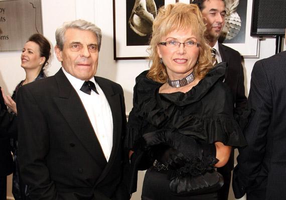 Sztankay István és keramikus művész szerelme, Bea a 2009-es Story-gálán. A pár nyolc év után nemrég a nyilvánosság kizárásával összeházasodott.