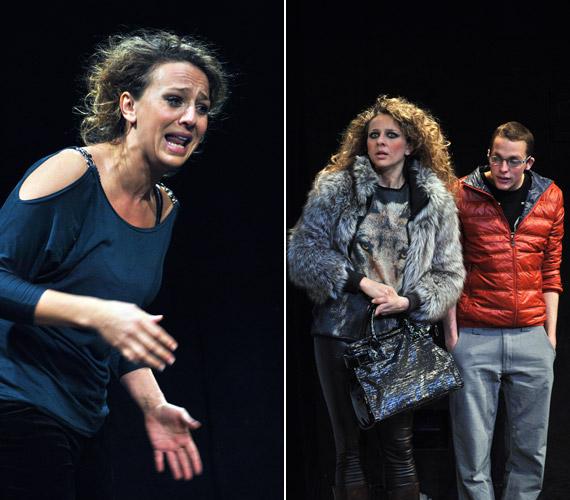 Pokorny Lia a Csónak című darabban Jon exfeleségének szerepében az érzelmek széles skáláját éli meg.
