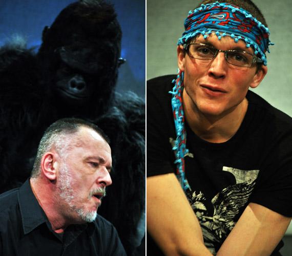 Az előadásban fontos szerepet kap egy gorilla, Artúr, de a nemrég bemutatott Equus című darab főszereplője, Szamosi Donáth is izgalmas perceket szerez a nézőknek.