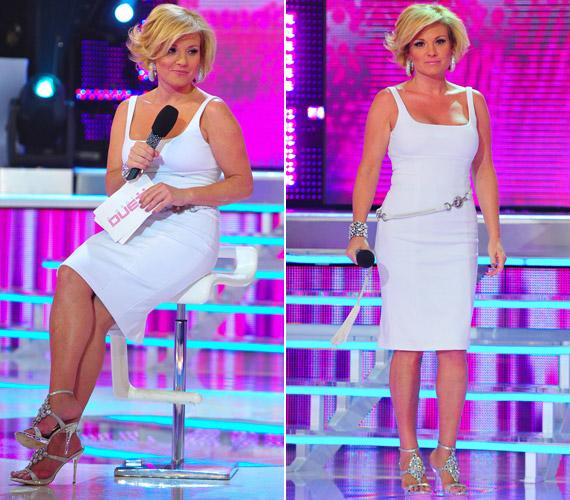 Liptai Claudia végig hozta a tőle megszokott dögös formáját - új frizurája és rafinált ruhái egyaránt sikert arattak.