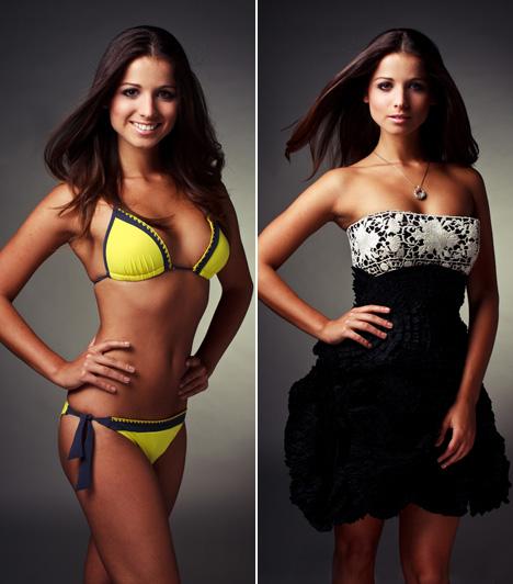 Rákosi AnnamáriaA 21 éves lány is bejutott a hat legszebb közé. A döntő előtt rendezett háziversenyen Rákosi Annamária nyerte el a Miss Charity címet.