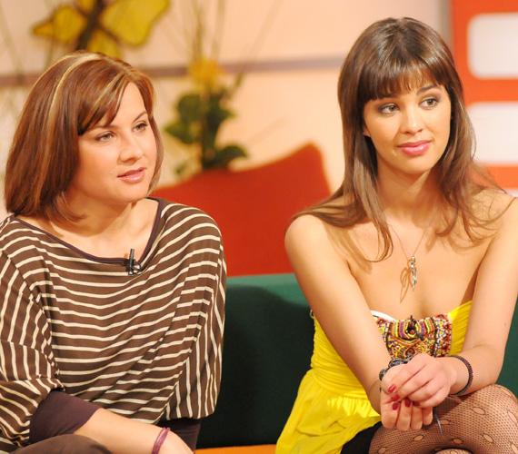 Ez a kép még 2008-ban készült az RTL Klub Reggeli című műsorának egyik felvételén. Nemcsak Ábel Anita, de a fiatal Ördög Nóra miatt is kuriózum. Ebben az évben született meg egyébként kislánya, Luca.