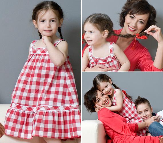 Farkasházi Réka kislánya 2009. május 24-én született. Lehet találgatni, Rebeka kitől örökölte barna őzikeszemeit.