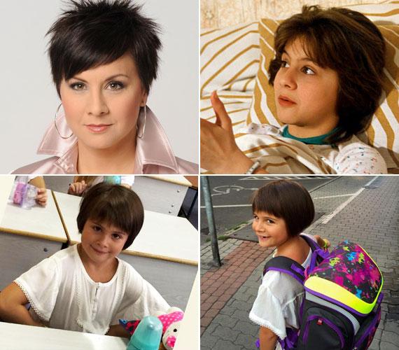 Ábel Anita felnőttként és a Szomszédok című sorozat Julcsijaként, illetve az első osztályos kislánya, Luca. Szerinted is nagy a hasonlóság?