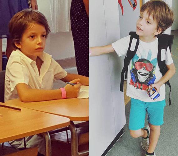 """""""Félix először a sulipadban. A képen kicsit túl komoly, pedig nincs elkeseredve"""" - írta a kép mellé Till Attila, akinek legkisebb gyereke novemberben lesz hétéves. A TV2 műsorvezetőjének legidősebb fia, Andor jövőre lesz 18, a középső, Simon pedig 15 éves."""