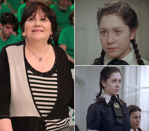 Az 59 éves Zusrzs Kati a Magyarország, szeretlek! tegnapi adásában és Kis Mariként az Abigélben. A szerepet 22 évesen játszotta el.