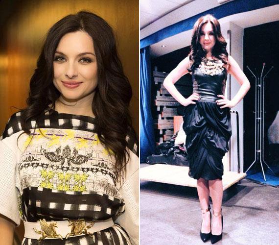 Zséda szívesen viseli magyar divattervezők különleges darabjait, ők pedig nagy örömmel öltöztetik a törékeny énekesnőt.