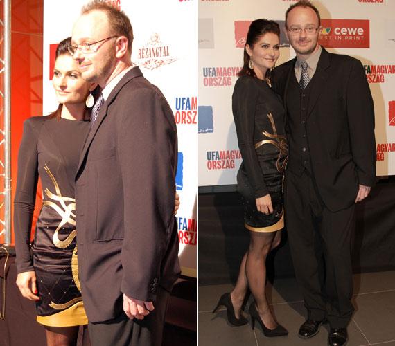 A Barátok közt Balogh Nórája férjével, Lendvai Zoltán rendezővel érkezett, akivel 18 éve vannak együtt, és 12 éve házasok.