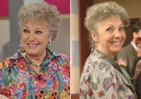 Fodor Zsóka 1998-tól 2011-ig alakította Magdi anyust. A 72 éves színésznő szintén Jakupcsek Gabriella műsorában kisminkelve, tarka ruhában, lágyabb loknikkal a hajában évtizedeket letagadhatott volna korából.