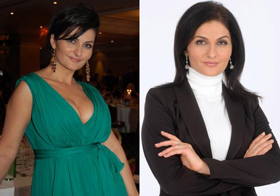 Varga Izabella, a sorozat Balogh Nórája ügyvédnőt alakít, így legtöbbször kosztümökben tűnik fel a Mátyás király téren, a Story-gálán viszont ő is elővette a nőies oldalát.