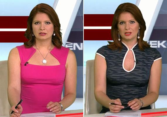 A két június elején viselt ruha esetében a nyakkivágáson volt a hangsúly.