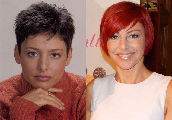 Az RTL Klub híradósa, Erős Antónia 1998-ban még sötétbarna, majd fekete hajjal mondta a híreket, ezt követően a vörös szinte összes árnyalatát kipróbálta.