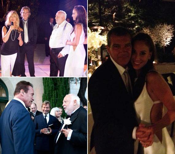 Kifejezte jókívánságait Arnold Schwarzenegger is, aki szerint producer barátja remekül választott, mert felesége nemcsak szép, de okos is.