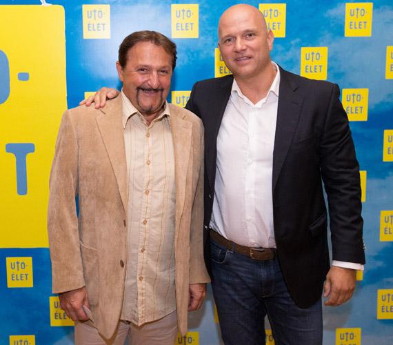 Szerednyey Béla ugyan nem szerepel az Utóéletben, de megjelent a bemutatón - a képen a film producerével, Pusztai Ferenccel látható.
