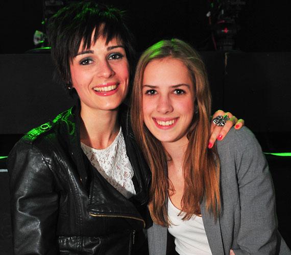 Legerszki Krisztinát testvére kísérte el a fergeteges élő show-ra.